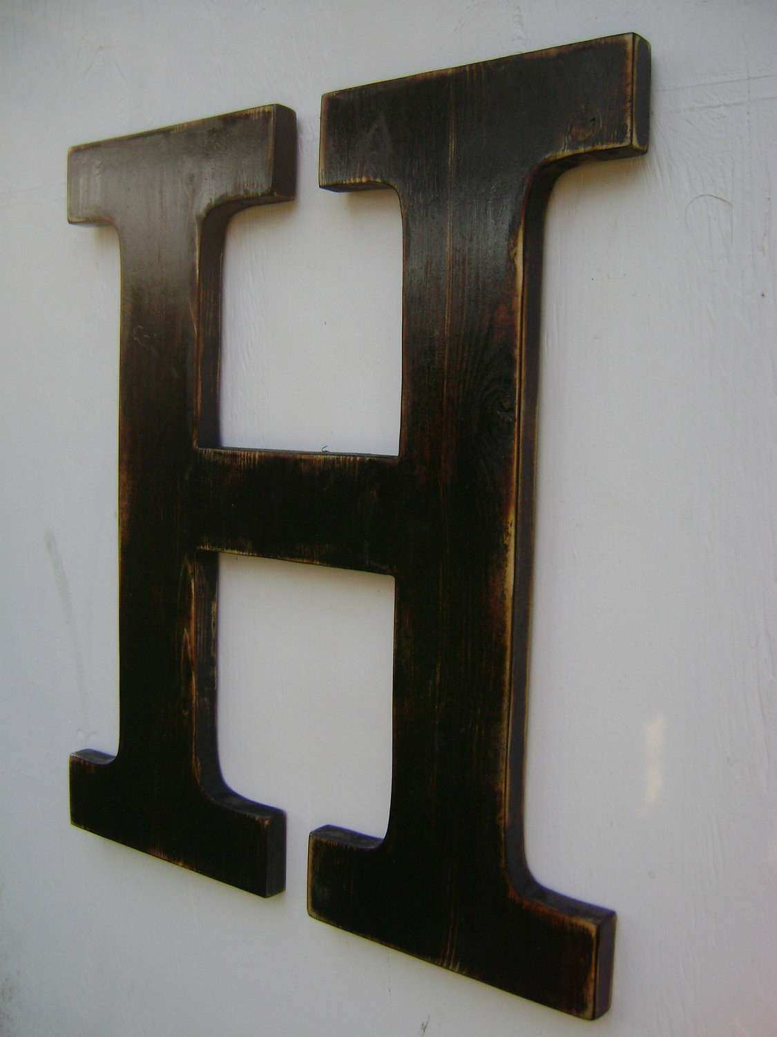 Letter Wall Decor Elegant Big Wall Hanging Wooden Letter H Nursery Decor  Painted