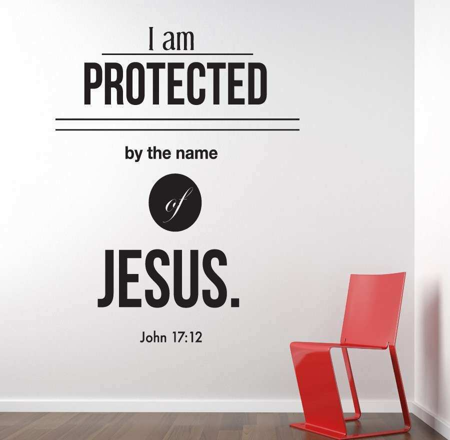 Lettering Wall Decor New Bible Verse Wall Decals