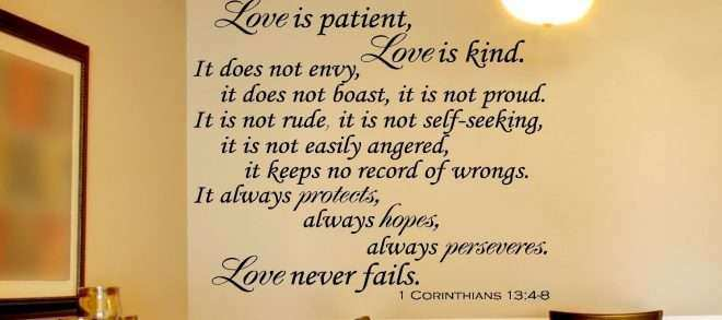 Famous Love Is Patient Love Is Kind Wall Decor Mold - Wall Art ...