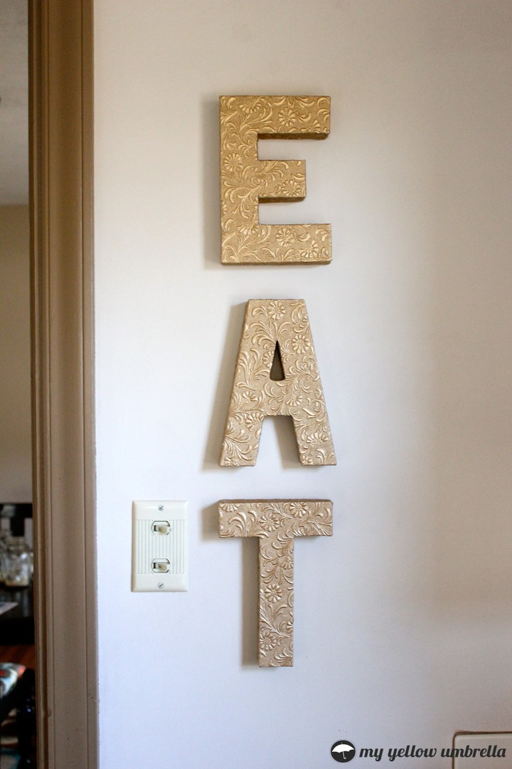 How To Faux Metal Wall Letters