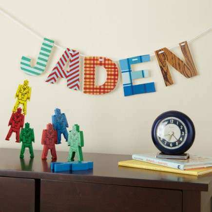 WALL CARDS and LETTERS KIDS ROOM DECOR