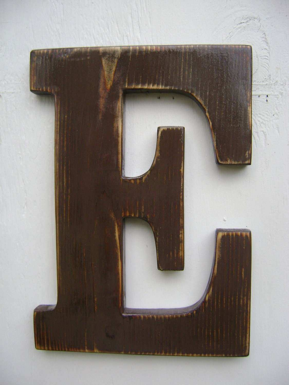 wall sign rustic wooden letters decor 12 tall 3 4
