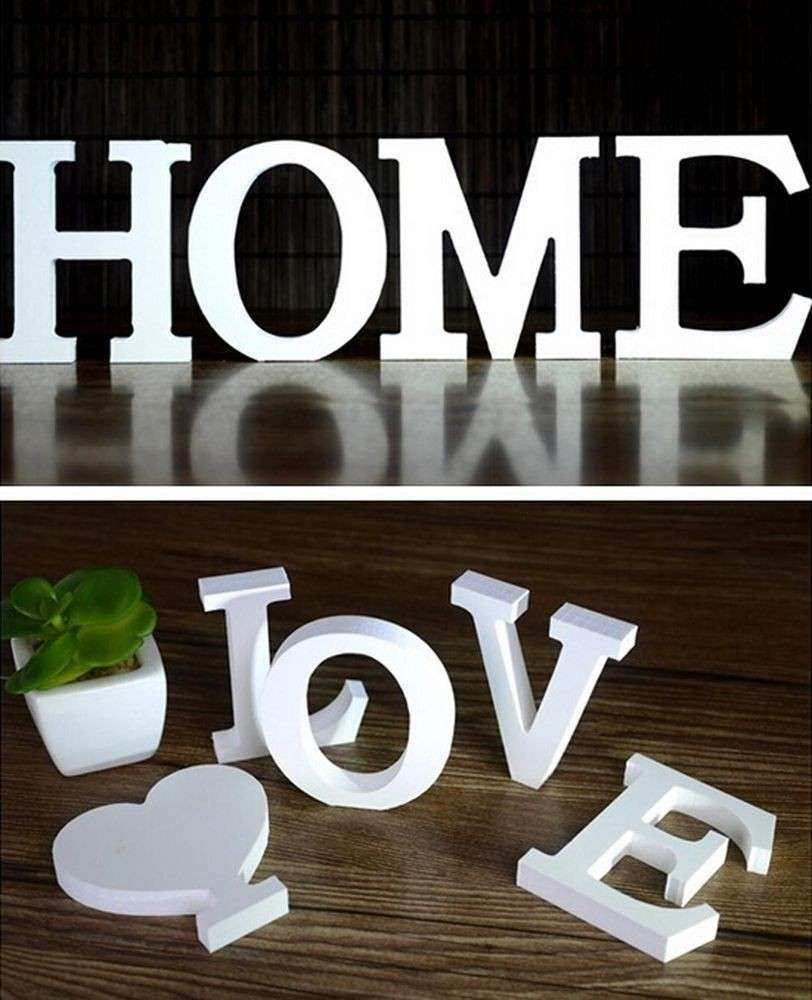 3D 26 Wooden Alphabet Letters Wall Hanging Nursery