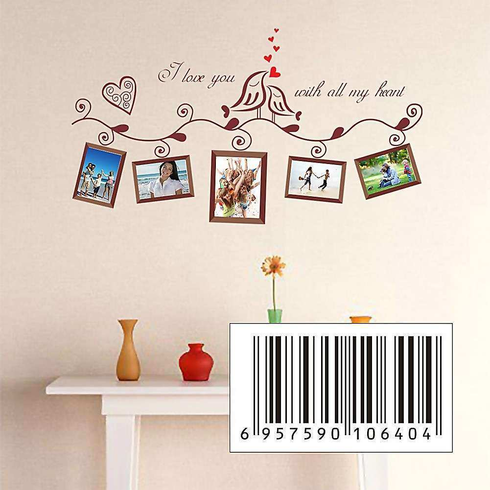 Love Birds Letters Removable Wall Sticker Decals Art Home
