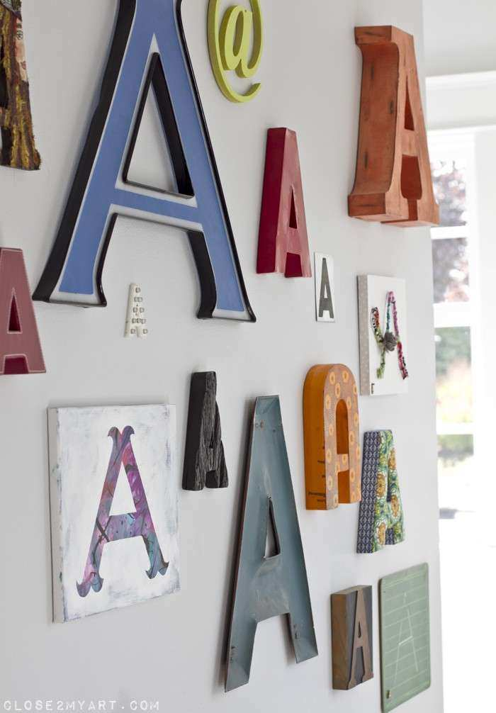 home tour chalkboard wall & letter A wall