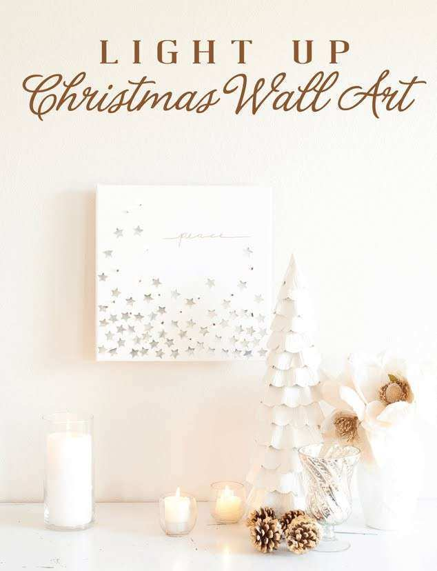 How to Make Light up Christmas Wall Art holiday tHOA