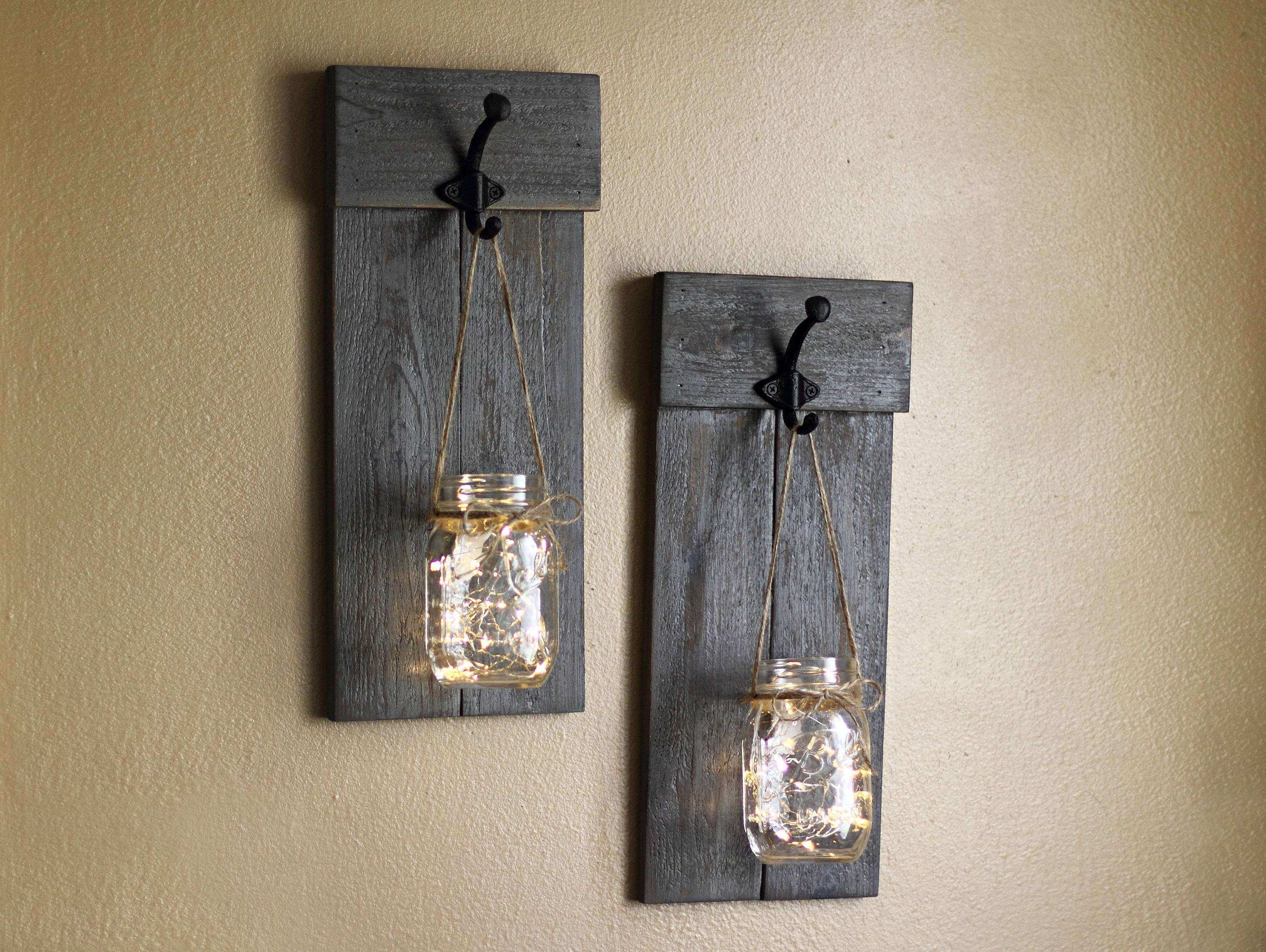 Superior Lighted Pictures Wall Decor Beautiful Distressed Sconce Set Wall Sconce  Lighted Wall Sconces