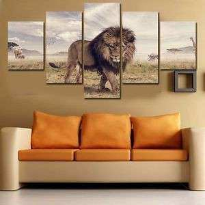 Lion Canvas Wall Art Lovely Picture Home Decor Art Painting Animal Big Lion  Wild