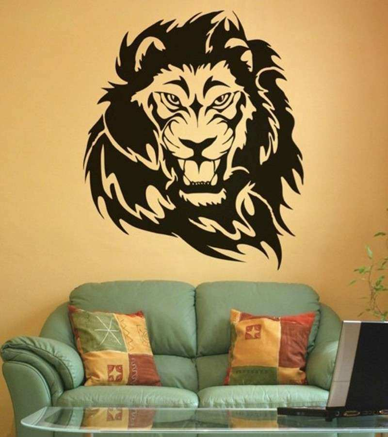 Lion Wall Art Awesome Mix wholesale order Roaring Lion Wall Sticker ...