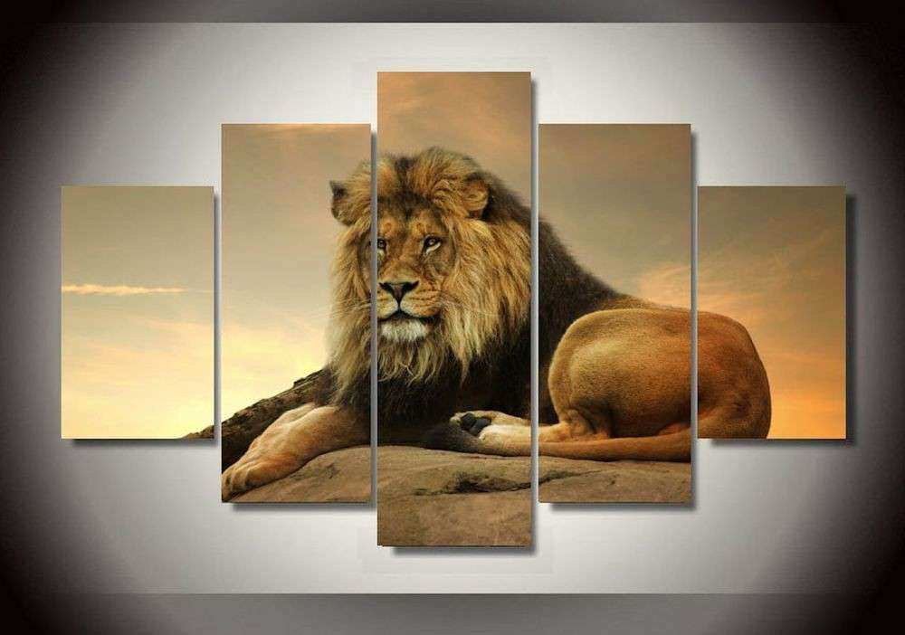 Frame Canvas Prints Animals Lion Wall Painting Art Picture