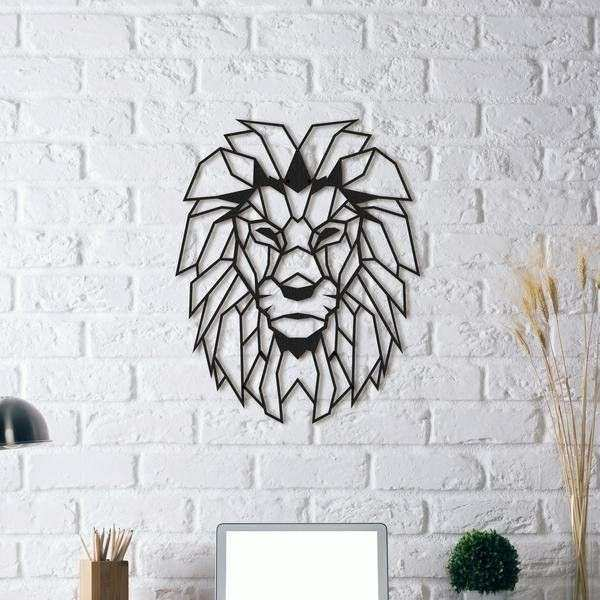 Lion Wall Decor Fresh Fancy Head Metal Art