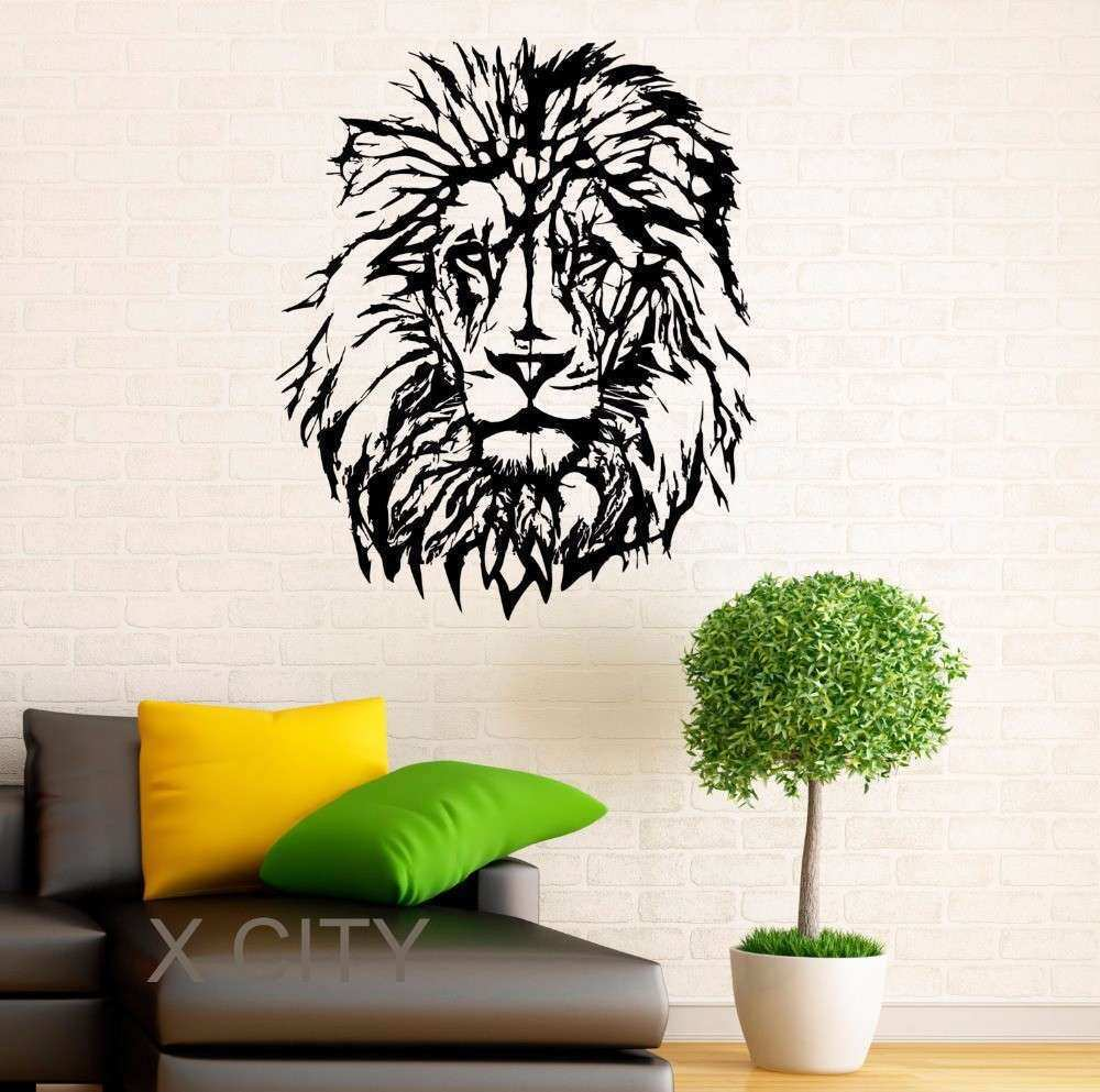 Lion Wall Decal Vinyl Stickers African Wild Cat Pride