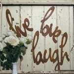 Lovely Live Laugh Love Metal Wall Decor