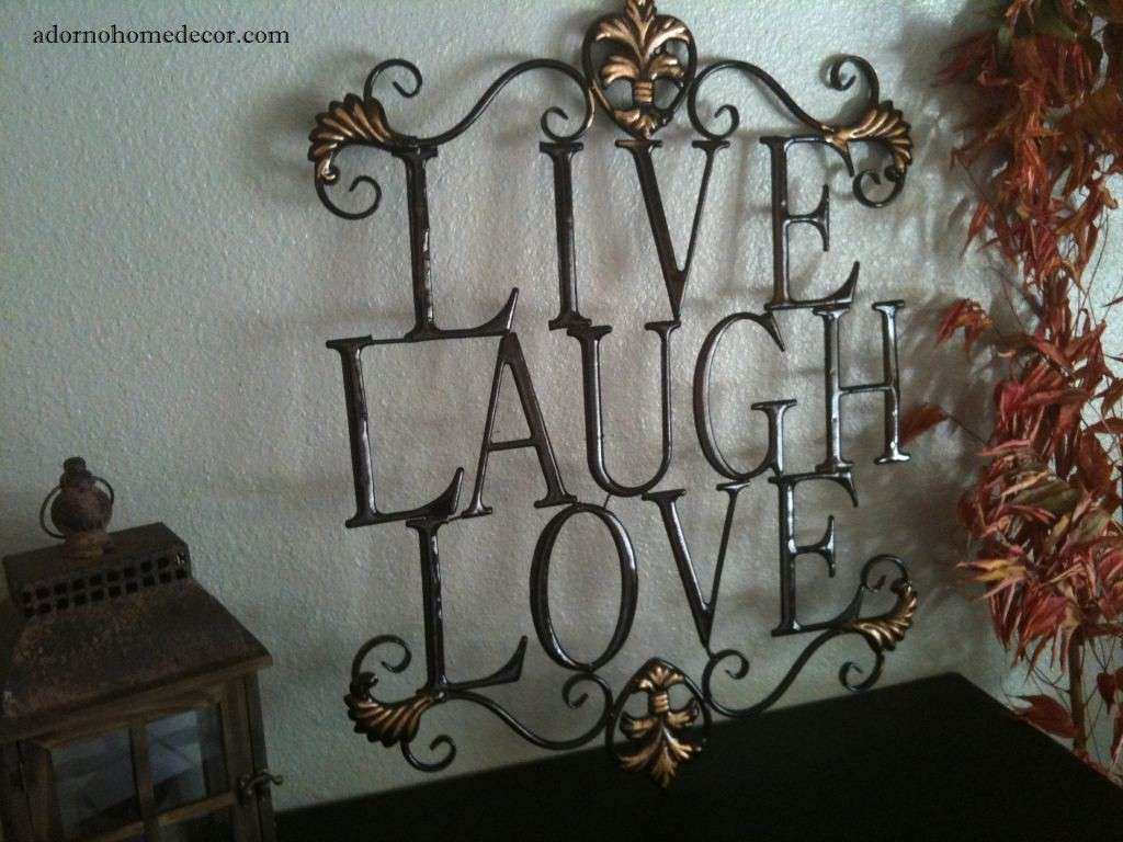 Live Laugh Love Metal Sign WALL DECOR Shabby Chic Cottage