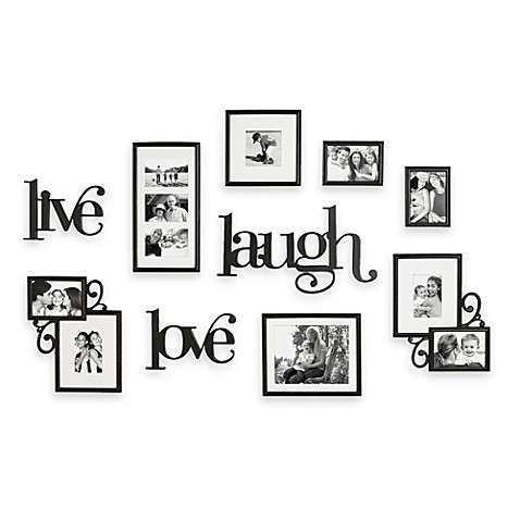 WallVerbs™ 10 Piece Live Laugh Love Wall Collection Bed