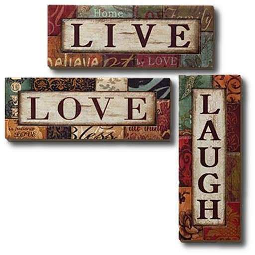 Second Life Marketplace Wall Art Metal Live Love Laugh