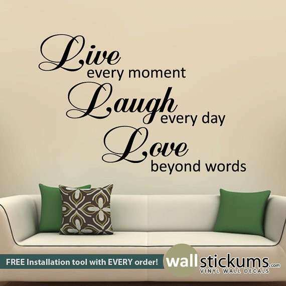 Live Laugh Love Wall Quote Decal Wall Decor Sticker