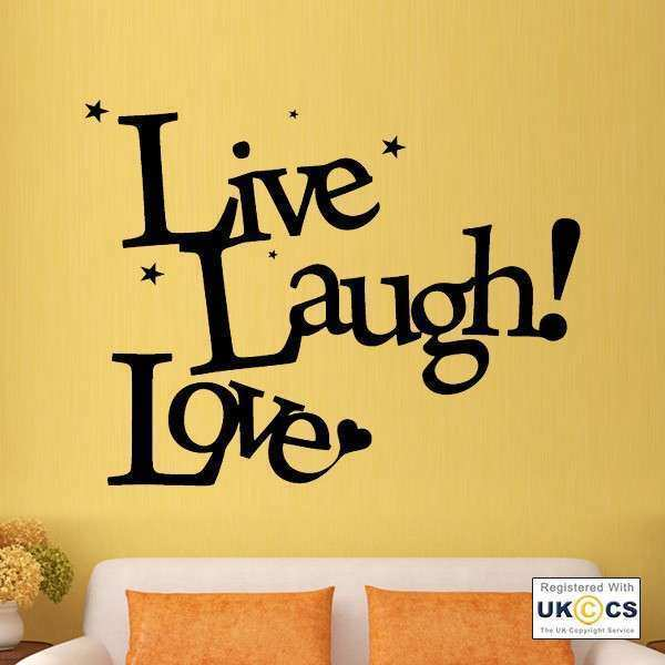 Famous Live Laugh Love Wall Decor Wood Composition - Wall Art ...