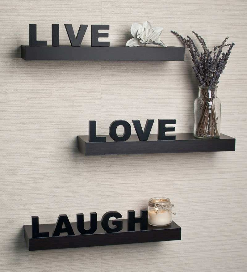 Live Love Laugh Wall Decor Wood Beautiful Live Love Laugh Wooden Wall Shelf  By Home Sparkle