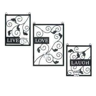 Live Laugh and Love French Style Wood Book Box Set