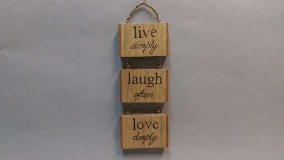 Items similar to Live Laugh Love wall hanging Handmade