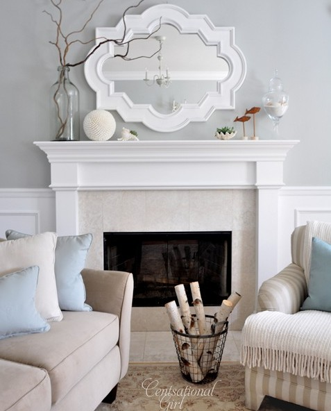 Chic living room design with gray walls paint color