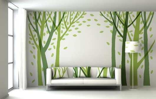 green Wall Decor Ideas for Living Room