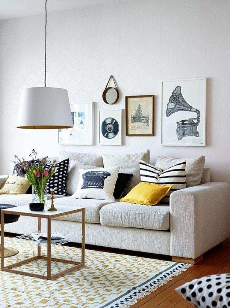 Living Room Wall Decor Ideas Pinterest Lovely Gallery Wall In 30 ...