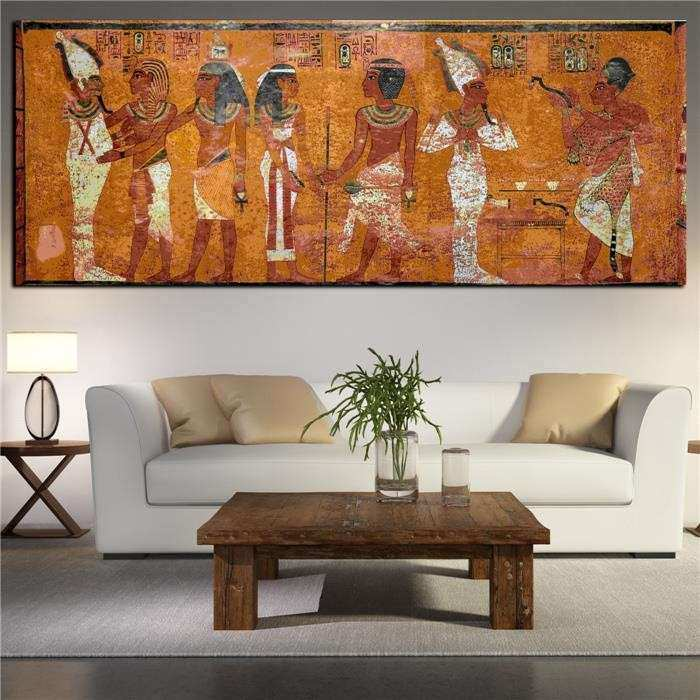 Egyptian Decor Canvas Painting Oil Painting Wall
