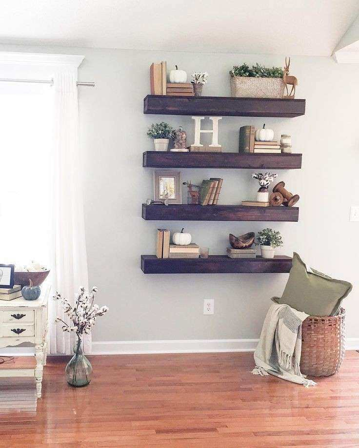 Living Room Wall Decor Pinterest Unique 25 Best Ideas About Floating  Shelves On Pinterest