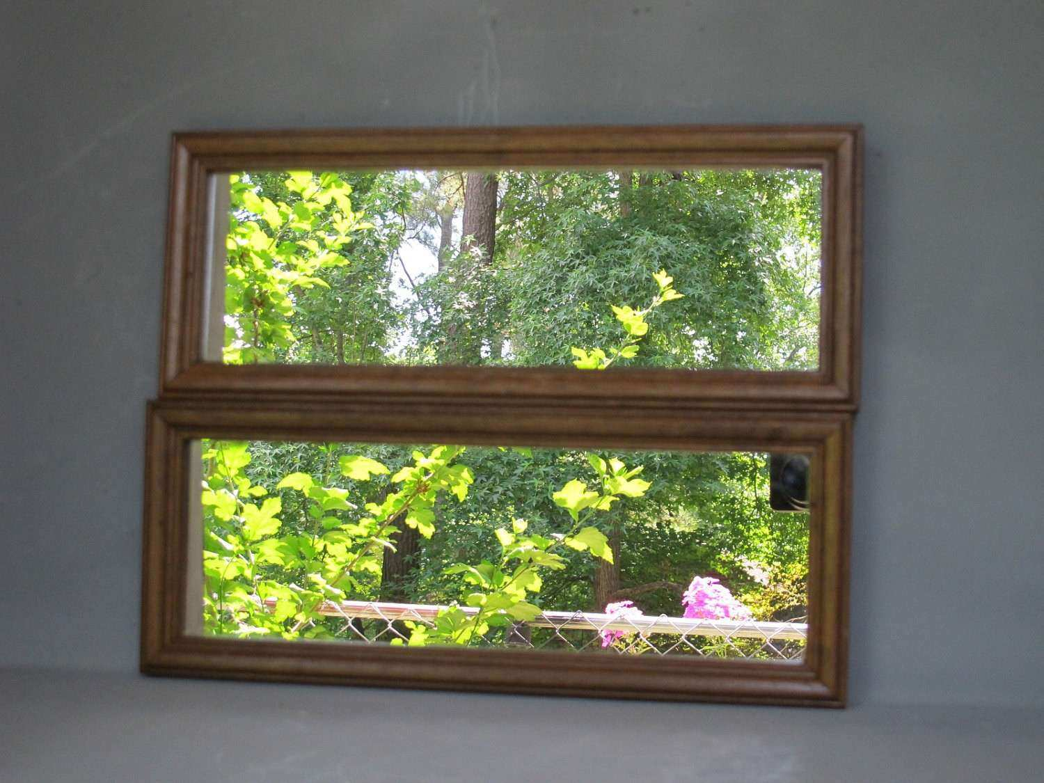 Vintage Wall Mirrors Set of 2 Pair of Narrow by