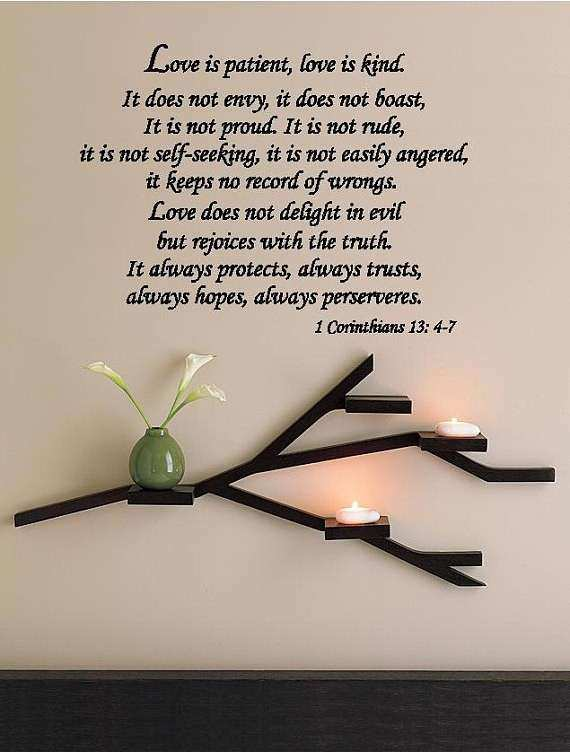 Love Is Patient Love Is Kind Corinthians Wall by