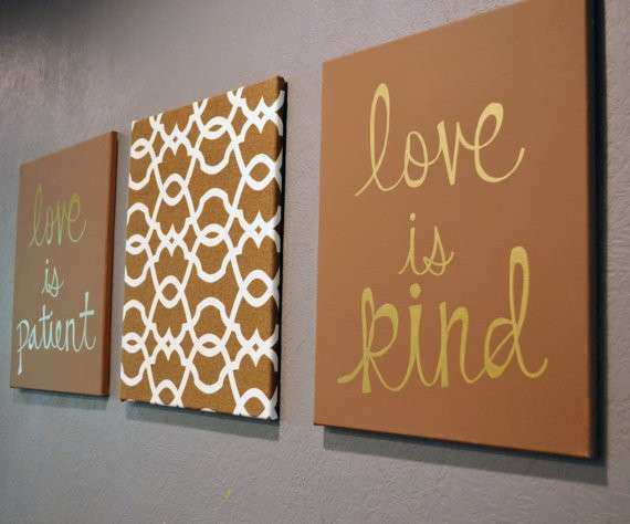 Items similar to Love is Patient Love is Kind Canvas 3