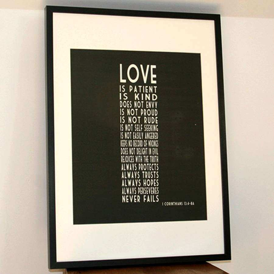 Love Is Patient Canvas Wall Art large wall art canvas