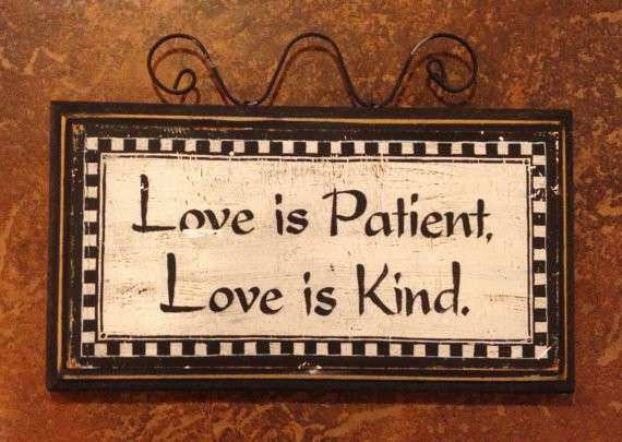 Love is Patient Wall Decor by SunChickieArts on Etsy