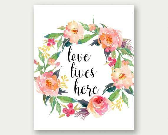 Items similar to Love Lives Here Home Wall Art Bedroom