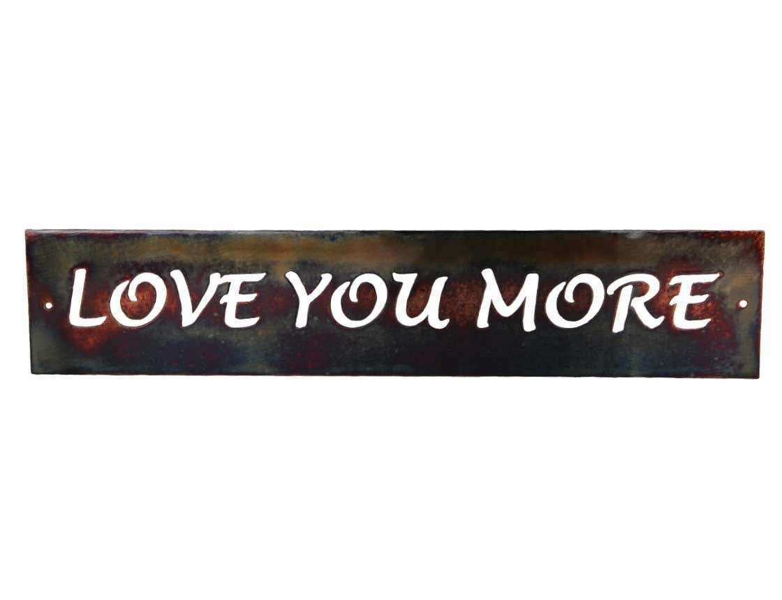 SMW570 Metal Decor Word Art Love You More