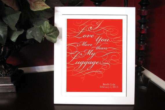 Items similar to I Love You More Print Wall Art Custom