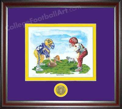 LSU Tigers vs Dawgs Mississippi State Framed Print