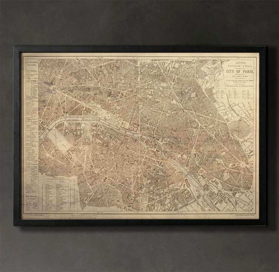 PARIS Map Print Paris Home Decor and Wall Art for Your Home