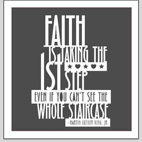 Buy FAITH IS taking the first step Vinyl Wall Lettering