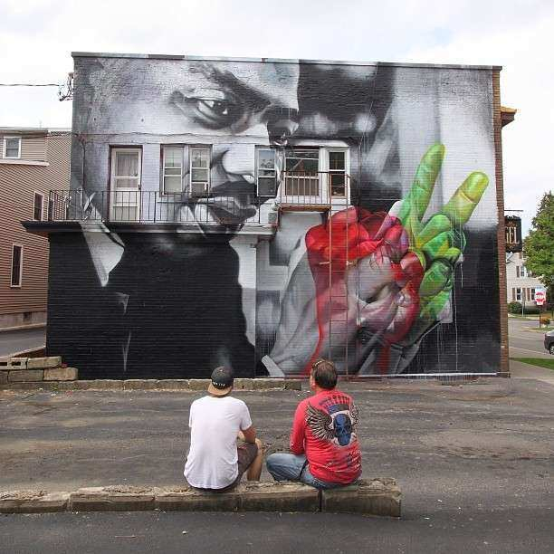 Case realistic street art portrait of Martin Luther King