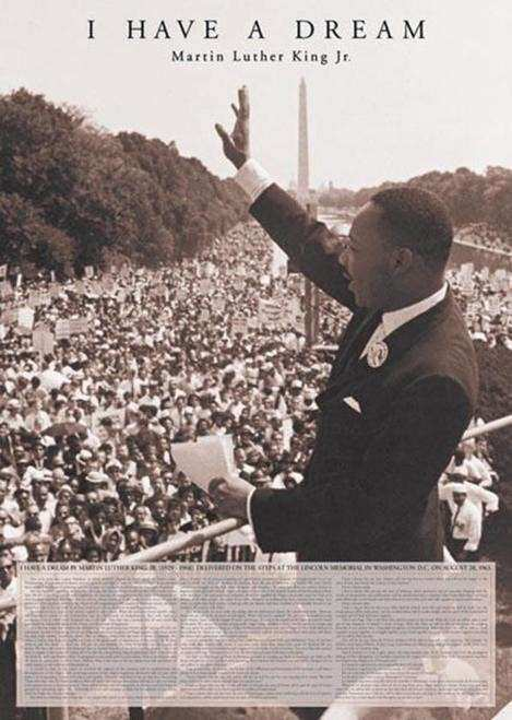 Martin Luther King I Have a Dream Quote Poster 24x36