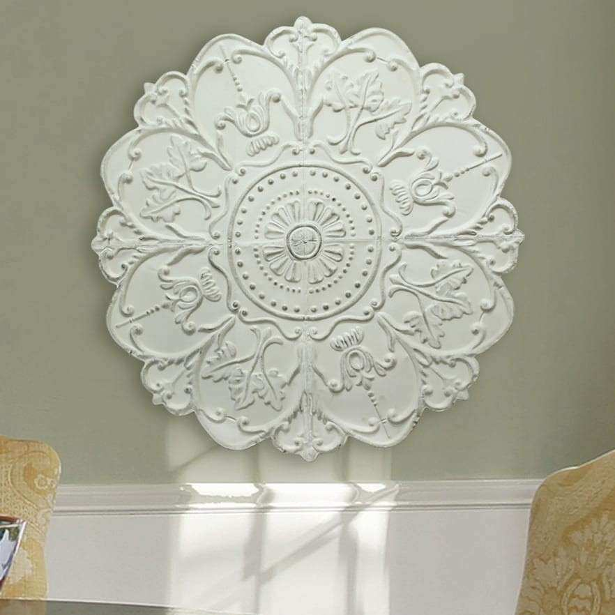 Good Medallion Wall Art Inspirational Stratton Home Medallion Metal Wall Decor  White