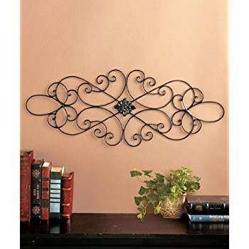 Amazon Square Scrolled Metal Wall Medallion Decor