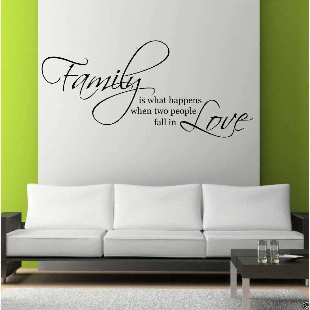 Quote Wall Decor Quotes Living Room Wall Decal Stickers In