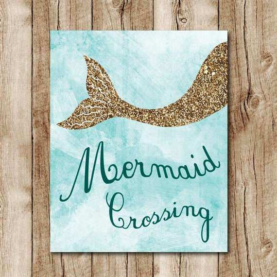 Mermaid Wall Decor Best Of Mermaid Printable Gold Glitter Wall Art Mermaid  Poster