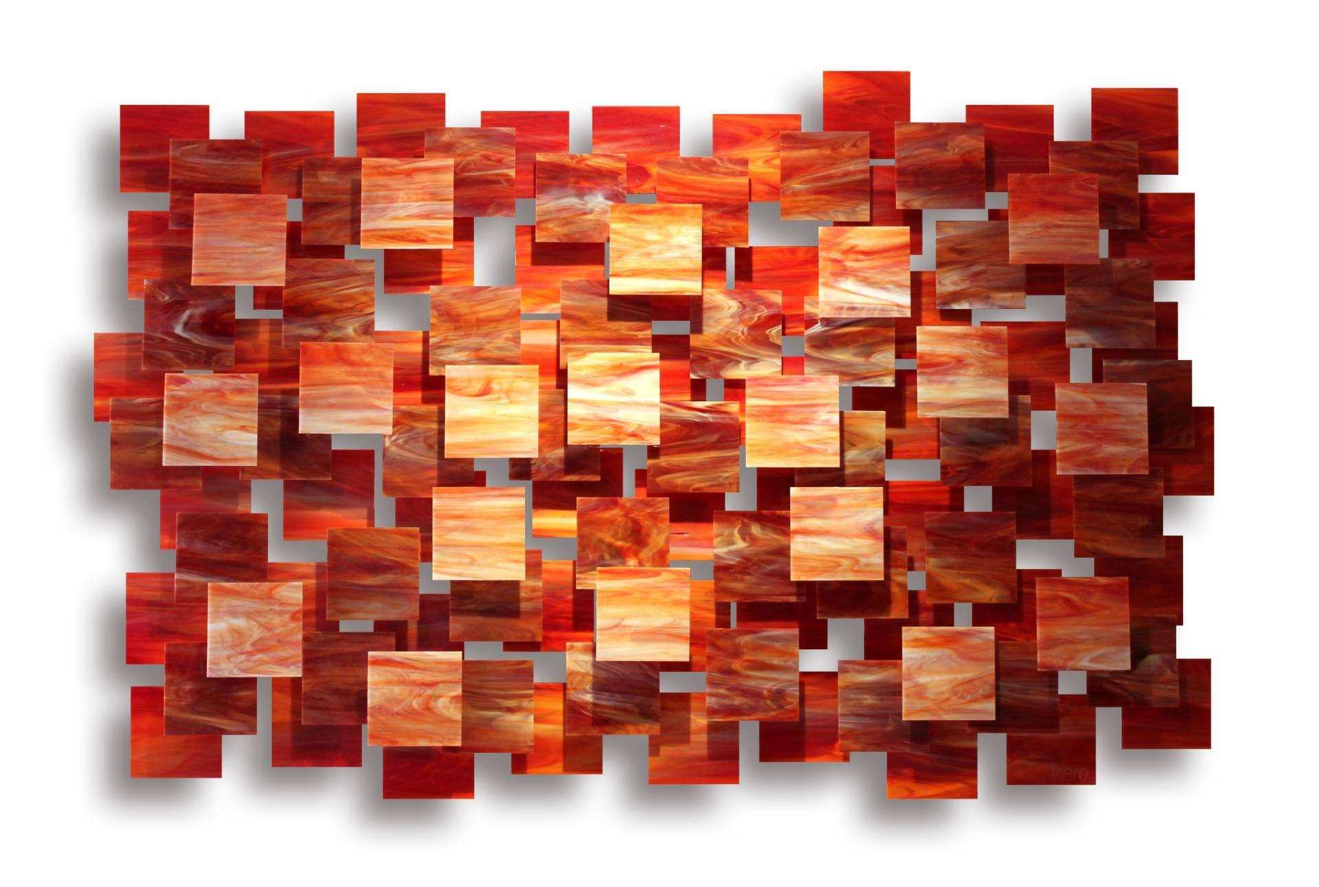 "Saatchi Art ""Sedona"" Glass and Metal Wall Sculpture"
