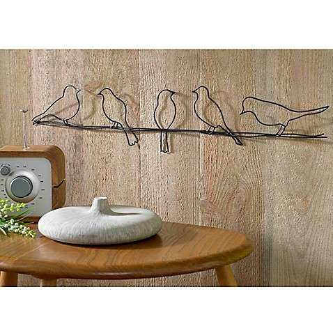 Buy Bird on a Wire Metal Wall Art from Bed Bath & Beyond