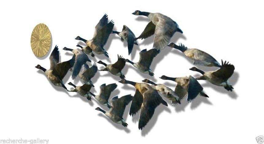 Geese Birds Metal Wall Art Home Decor Wall Sculpture • $99